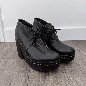 rag & bone - Esme Leather Studded Platform Booties